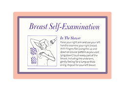 Breast self-examination shower card